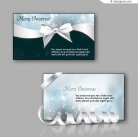 Christmas bow card vector material