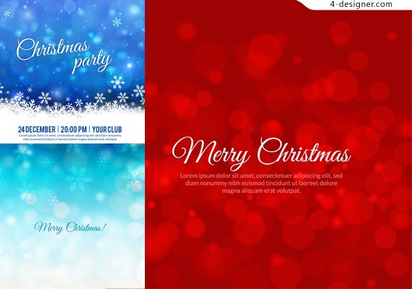 Christmas fantasy background vector material red spot