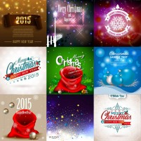 Christmas holiday advertising element vector material