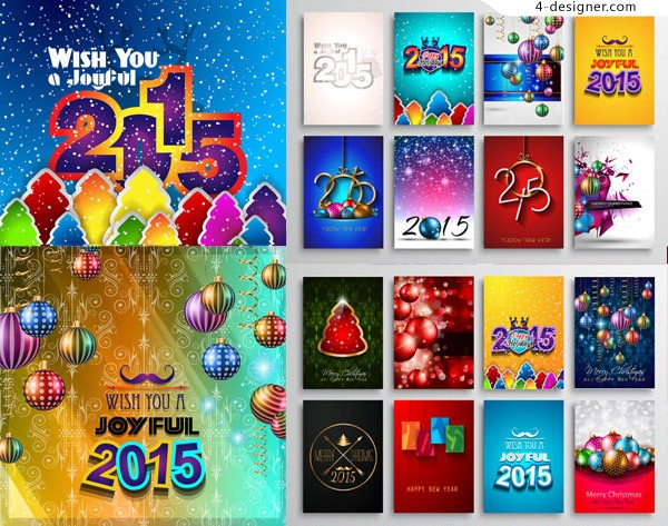 Christmas lob Themes creative design vector material Free Download
