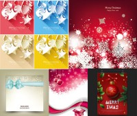 Christmas snowflake pattern background with bow vector material