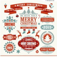 Christmas tags vector material