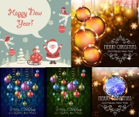 Christmas with Santa lob design vector material Free Download