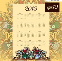Classical style 2015 calendar Pictures Free Download