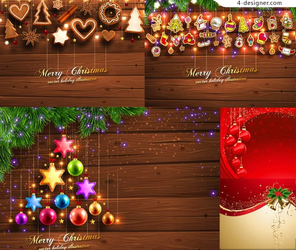 Dream Star with Christmas decorations and other vector material atmosphere