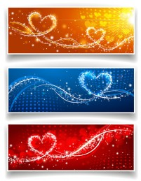 Exquisite Valentine s Day ad element vector material