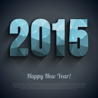 Fine 2015 New Year vector material