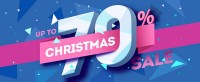 Mall Christmas Promotions Banner Vector material