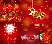 Red golden festive background with three dimensional characters vector material Free Download