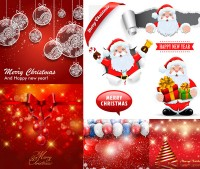 Santa Claus with a tear off effect background vector material free download