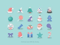 Small fresh Christmas Icons