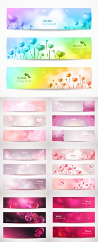 Valentine Banners fine material