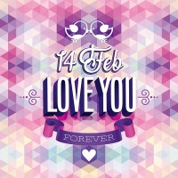 Valentine s Day vector material fashion advertising