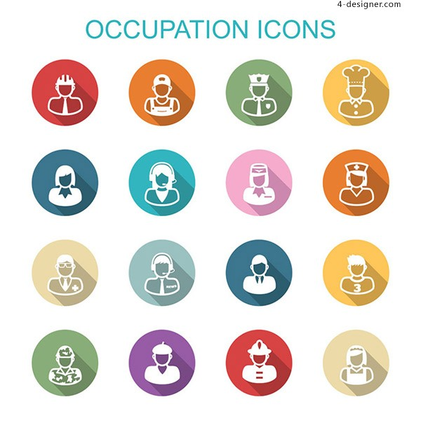 Occupational character icons