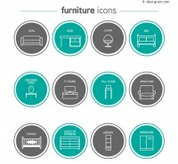 Round furniture icon