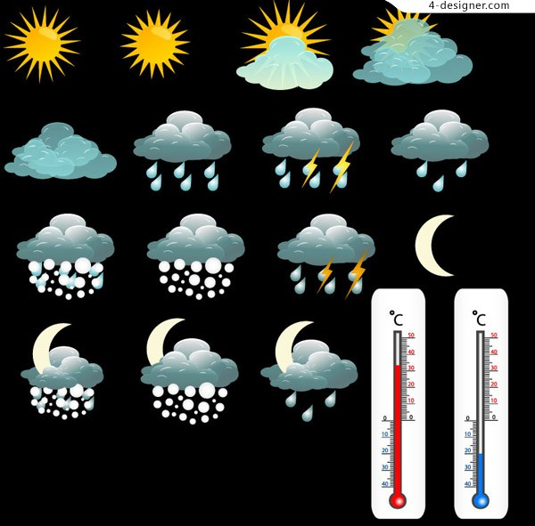 Thermometer and weather icon