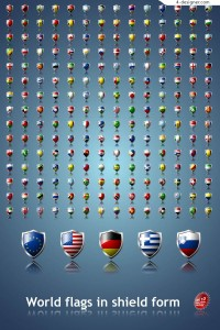 03 countries flags icons vector material