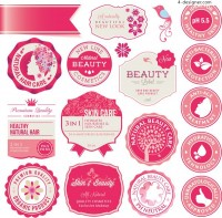 Pink stamp icons
