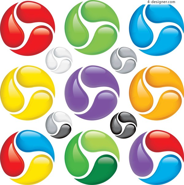 Color spinning ball vector