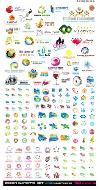 A variety of 3D icon vector material