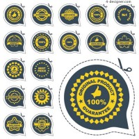 Badge label stickers 04 vector material