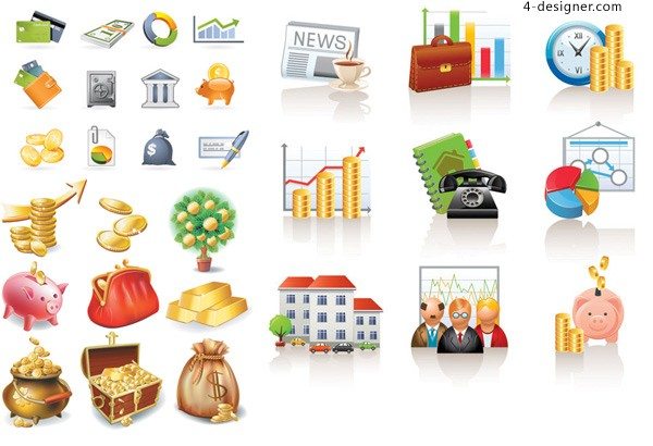 Business Finance icon vector material