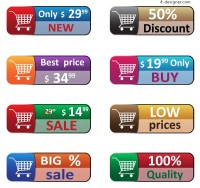 Buy web buttons vector material