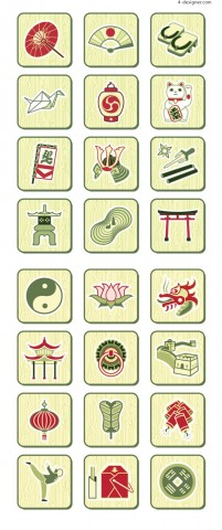 Chinese Traditional Symbol vector material