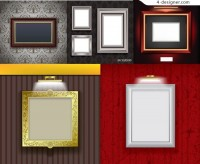 Classic pattern border vector material