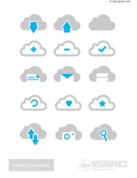 Cloud icon vector material