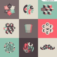 Coffee creative graphics vector material