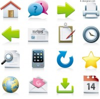 Color practical icon vector material