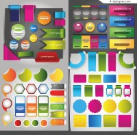 Colorful tags vector material