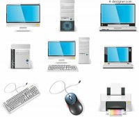 Computer Equipment icon vector material