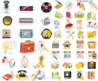 Computer application icons vector material