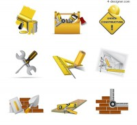Construction signs vector material