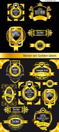 Continental Gold Label vector material