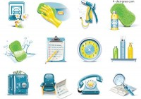 Daily necessities of life icon vector material