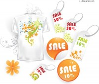 Department store sales tag vector material