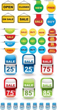 Discount sales sticker vector material theme | Page 1 | Free