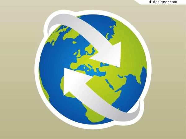 Earth icon vector material