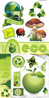 Eco friendly design vector material