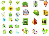 Ecological Icon Set vector material