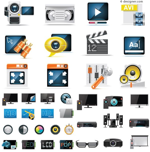 Electrical life icon vector material