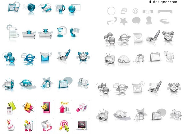 Exquisite icon 01 vector material