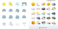 Fine weather icon vector material