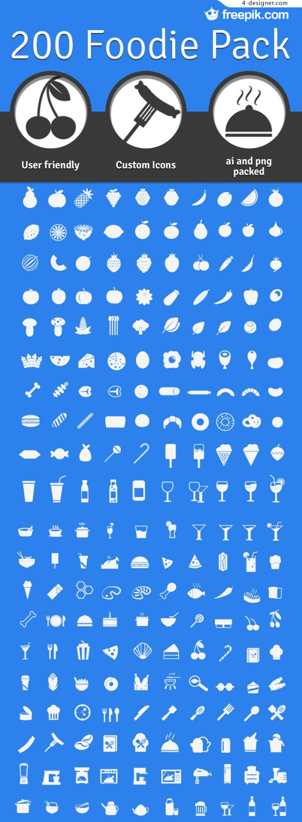 Food Icon vector material