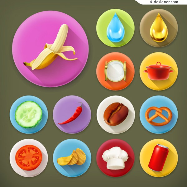 Food theme icons