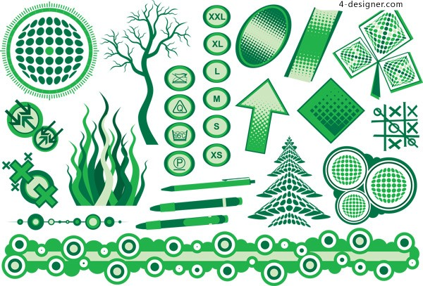 Green Living Icon vector material