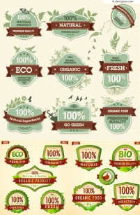 Green Nature Icons vector material